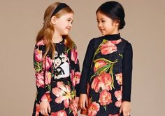 Discover the new Dolce & Gabbana Children Girl Collection for Fall Winter 2016 2017 and get inspired. Dolce & Gabbana, Dolce And Gabbana Kids, Little Girl Dresses, Girls Dresses, Fall Outfits, Kids Outfits, Designer Kids Wear, Brocade Dresses, Kids Coats