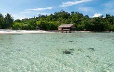 Kordiris Homestay - Raja Ampat - Indonesia   Book now at www.bedforest.com  Wonderful bungalow at the incredible ocean in Raja Ampat.