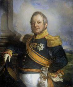 Portrait of Hendrik Merkus, Baron de Kock, Army Commandant and after 1826 Lieutenant Governor-General of the Dutch East Indies . 1826-1857