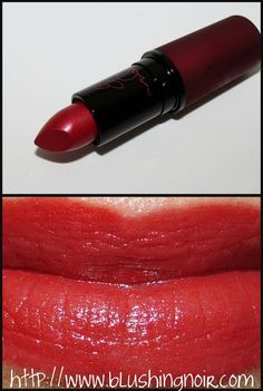 MAC Viva Glam Rihanna Lipstick Swatches & Review | via @BlushingNoir
