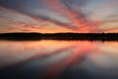 Light reflecting off of Lake Geneva, Wisconsin.