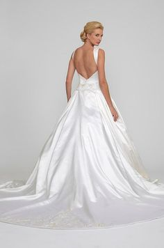56d28072c52 Ball Gown Wedding Dresses   Satin ball gown with chapel train. Angel Rivera  2014 Wedding