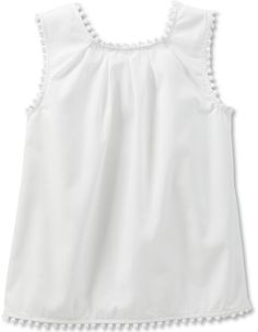 Carter's Little Girls' Pom-Pom Trim Top