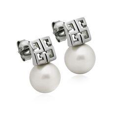 CZ Stud 925 Sterling Silver Earrings with XXXX Ear Jackets E10