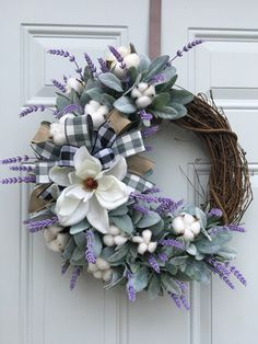 Your place to buy and sell all handmade things Wreath Crafts, Diy Wreath, Grapevine Wreath, Wreath Making, Wreath Ideas, Felt Flower Wreaths, Fall Wreaths, Floral Wreath, Wreaths For Front Door