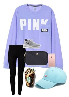 """""""happy sunday!"""" by prepstermaddy ❤ liked on Polyvore featuring American Vintage, Vineyard Vines, Coach and NIKE"""