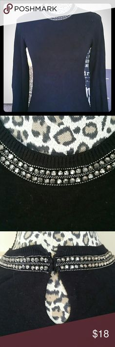 Zara Black Sweaters Crew & Scoop Necks