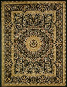 Black 9' 10 x 13' 1 Isfahan Design Rug   Area Rugs   eSaleRugs