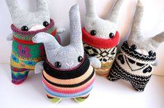Little Pink Sock Rabbit by theRemakerie on Etsy, $35.00.... I could probably make this!