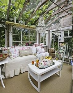 Like that it is only framing... not all are covered and this gives me some ideas.  Outdoor rooms