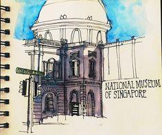 National Museum of Singapore, Singapore Symposium 2015 - Final Sketchcrawl