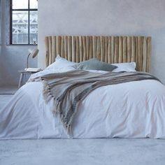 Headboard driftwood bed 180 River - Decoration For Home Driftwood Headboard, Rattan Headboard, Headboard Decor, Headboards For Beds, Bed Headrest, Classic Bedroom Decor, Diy Bett, Suites, Minimalist Bedroom