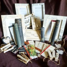 Amaranth Alchemy - Book Page Gifts - Frames - Bookmarks - Peg Magnets - Book Spine Bookmarks