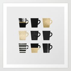 "Art Print / MINI (8"" x 8"") Elisabeth Fredriksson (elisabethfredriksson) Coffee by Elisabeth Fredriksson Following $18.00"