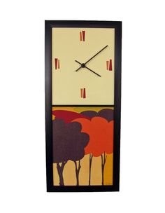 Time doesn't exist in the Hoop Mamas office, but I'd still totally buy this clock that would match beautifully!