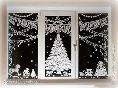 Картина панно рисунок Новый год Рождество Вырезание Пусть скорее приходит праздник Бумага фото 1