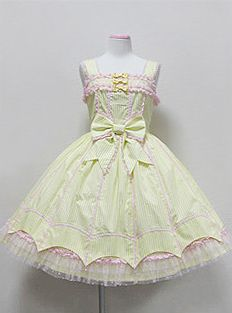 Angelic Pretty / Jumper Skirt / Pastel Striped JSK
