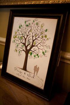 árbol de huellas dactilares - boda