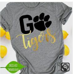 Go Tigers svg Paw svg Tigers svg Football svg Tigers Cheer Shirts, Football Mom Shirts, Team Shirts, Vinyl Shirts, Teacher Shirts, Sports Shirts, Football Shirt Designs, Cheerleading Shirts, Football Moms