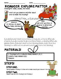 SNEAK PEEK INTO HOLIDAYS MATTER FREEBIE! (AN EXPERIMENT WITH MATTER) - TeachersPayTeachers.com