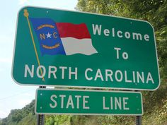 Welcome to North Carolina Sign (Alleghany County, North Carolina) by courthouselover, via Flickr