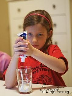 FHE lesson for kids: once you squeeze all toothpaste out, you can't put it back into the tube. Words work the same way: you can't take words back, so make sure you say kind things.