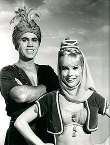 I Dream of Jeannie -   Eden with husband Michael Ansara as 'The Blue Djinn', 1966