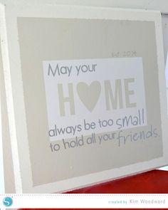 Housewarming Gift Idea - Vinyl Sign    Kim Woodward for Silhouette