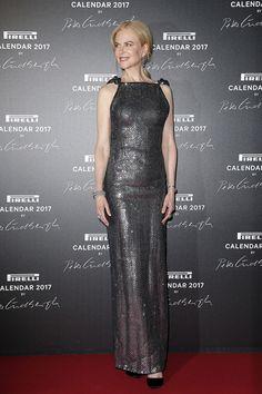 NICOLE KIDMAN IN BLACK 2017 | Nicole Kidman in Armani at the Pirelli Calendar Launch: Girl, That's ...