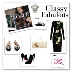 """""""Black and white world"""" by lamiacara ❤ liked on Polyvore featuring Christian Louboutin, Chanel, Dolce&Gabbana and blackandwhiteworld"""