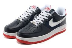 656cf85fd8f7 Nike Air Force 1 Low Men Black Blue White