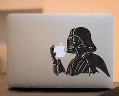 I'm presenting a series of stickers for Macbook, that integrate with Apple logo. Stickers can be purchased for the price of €. Mac Stickers, Apple Stickers, Cool Stickers, Macbook Decal Stickers, Laptop Decal, Darth Vader, The Force Is Strong, Apple Logo, Star Wars