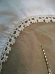 Sweet crochet edging pattern