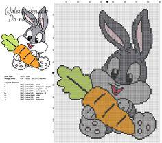 Dziecko Królik Bugs z marchwi kreskówki Looney Tunes znaków darmo Wzór graficzny