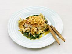 Ovnsstekt svinefilet med spinat og fetaost - Godt.no - Finn noe godt å spise