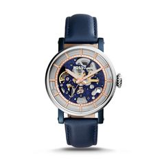 Fashioned in a stainless steel case, we've re-envisioned the Original Boyfriend in a classic blue. Displaying a new see-through skeleton dial and rose gold-tone bezel, this watch is sure to make a stunning statement.