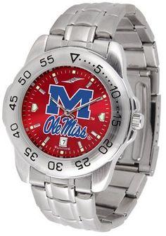 Mississippi 'ole Miss' Rebels- University Of Sport Steel Band Ano-chrome - Men's - Men's College Watches by Sports Memorabilia. $59.95. Mississippi 'ole Miss' Rebels- University Of Sport Steel Band Ano-chrome - Men's