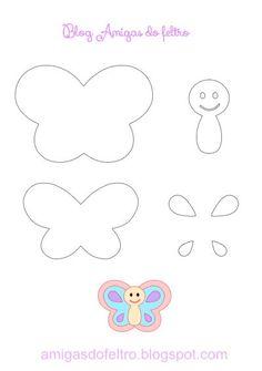 Felt Butterfly Digital Pattern