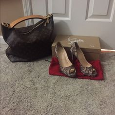 Authentic Christian Louboutin Satin Pumps Christian Louboutin Satin Pumps they are in Great Condition. Have been used a handful of times. Great for partying or going out for dinner. They are size 39. I will include a box( not the one they came in) and the dust bags. They are light cream and black laced overlay. Christian Louboutin Shoes Heels