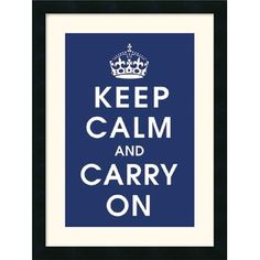 Amanti Art Keep Calm Navy Framed Art Print by Vintage Repro - DSW113529