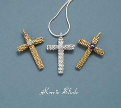 Beaded Pilgrim's Cross Tutorial - The Beading Gem's Journal