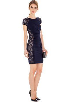 Rochie De Vara Cami Albastru Cod: R083 Office Dresses, Dresses For Work, Formal Dresses, Work Wear, Vintage Dresses, Sexy Women, Lace, How To Wear, Shopping