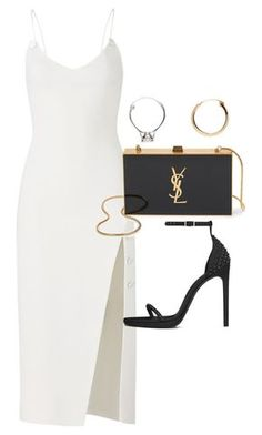 """""""Untitled"""" by thecharminchaos ❤ liked on Polyvore featuring David Koma, Yves Saint Laurent and Vetements"""