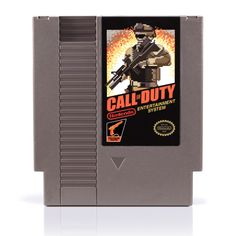 Call of Duty NES cartridges retro art
