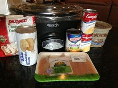 Easy Crockpot Chicken and Dumplins