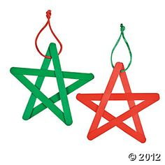 Craft Stick Star Ornament Craft Kit $4.60 Looks easy enough to create myself