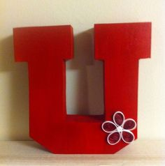 University of Utah Red U by thisdancergirl on Etsy, $9.98
