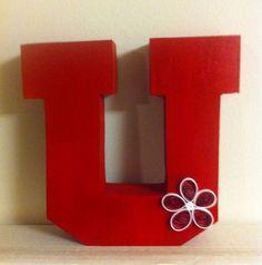 University of Utah Red U by thisdancergirl on Etsy, $9.98
