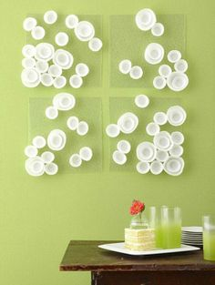 DIY Cupcake Wrapper Wall Art Ideas