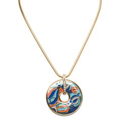 Jardin Caribbean Enamel Disc Necklace Multi up to 70% off   Jewelry   Little Black Bag